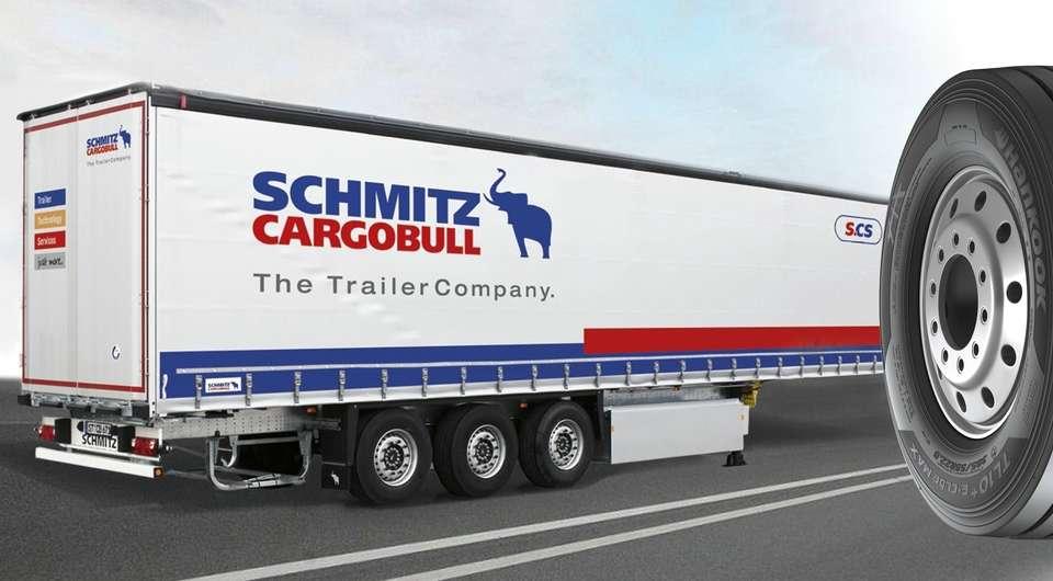 Schmitz Cargobull на шинах Hankook TBR