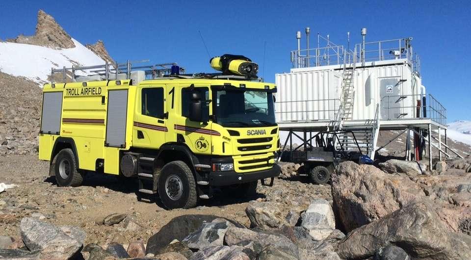 Пожарная Scania. Место службы – Антарктида