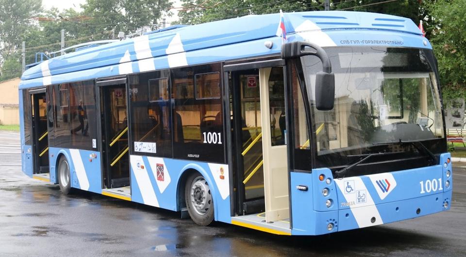 Санкт-Петербург получил троллейбусы с автономным ходом