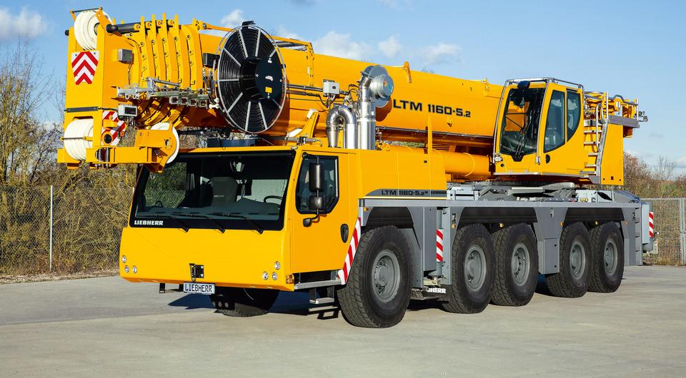 Liebherr LTM 1160-5.2. На одном двигателе