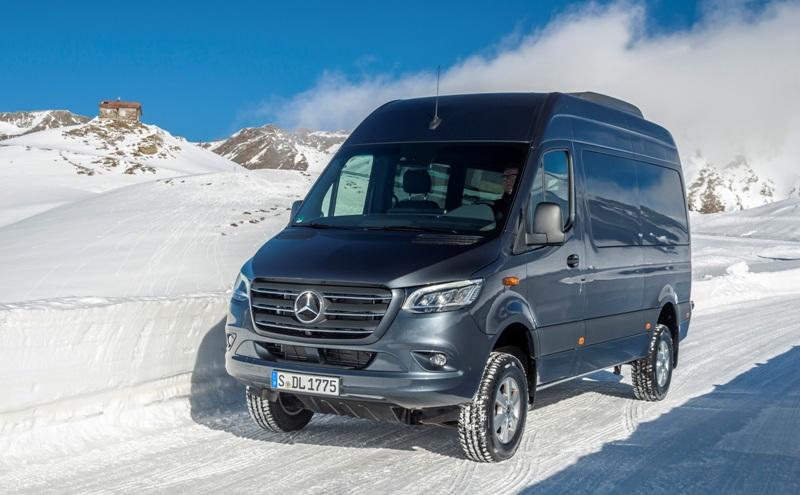 Mercedes-Benz Sprinter, полный привод, полноприводный Спринтер, Sprinter 4x4, полноприводный фургон