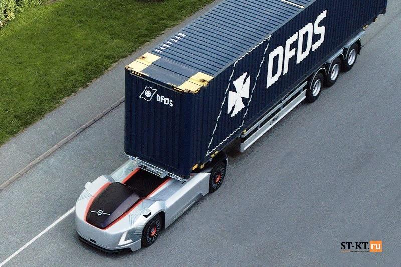 Volvo VERA, электротрак, электромобиль, контейнерные перевозки, автономный грузовик, грузовик-робот, роботизированный грузовик, автомобиль-робот