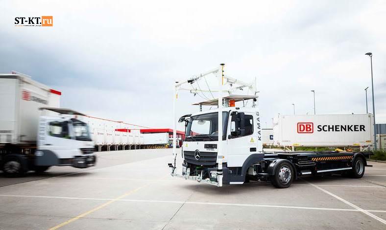 Kamag, Wiesel, Визель, Камаг, Контейнеровоз, портовый тягач, ранжировщик, складской транспорт, терминальный, Ульм, грузовик-робот, автономный грузовик