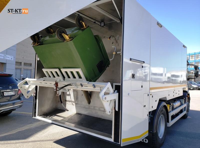 вывоз мусора, очистка баков, мойка баков, мусорный бак, ЧИБИС, мусоровоз, мусорная машина, мультилифт, крюковый погрузчик, съемный мойщик баков