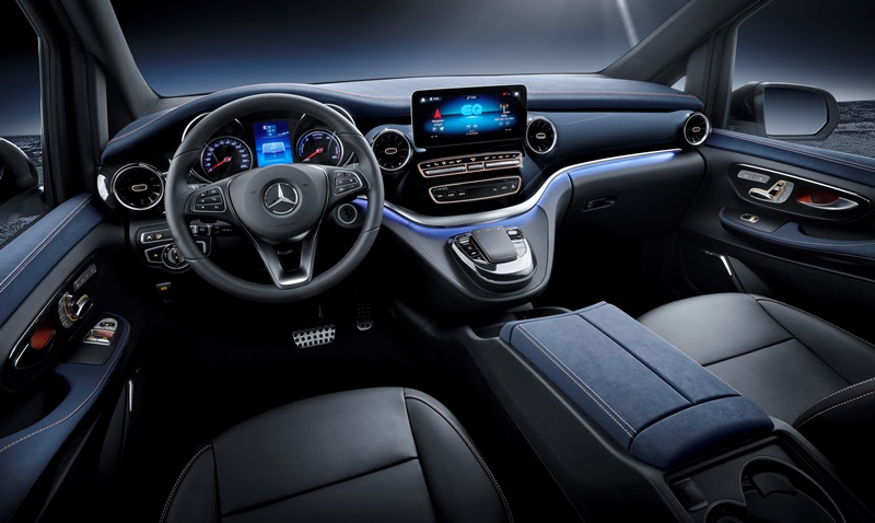 Mercedes-Benz Concept EQV, премиум-вэн, электромобиль, электрокар, электрический Мерседес, Concept EQV