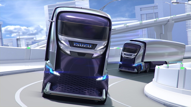 Исудзу, Исузу, ISUZU FL-IR, беспилотник, автономный грузовик, грузовик-робот, автоматический грузовик, магистральный тягач