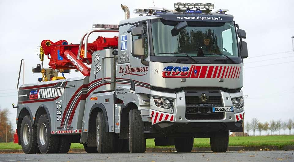 Renault K как спасатель для грузовиков