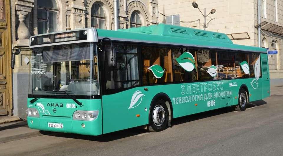 Электробус ЛиАЗ передан в Мосгортранс
