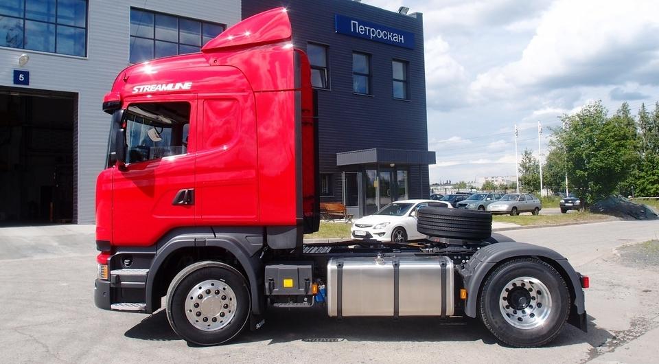 Scania для перевозки древесной щепы