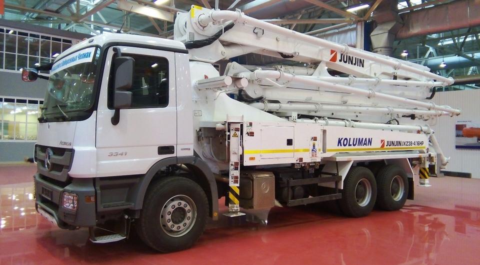 Koluman и Mercedes-Benz: первый челнинский автобетононасос