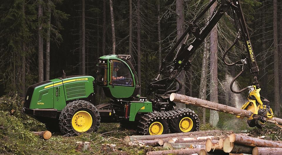 John Deere поставляет лесозаготовительные машины