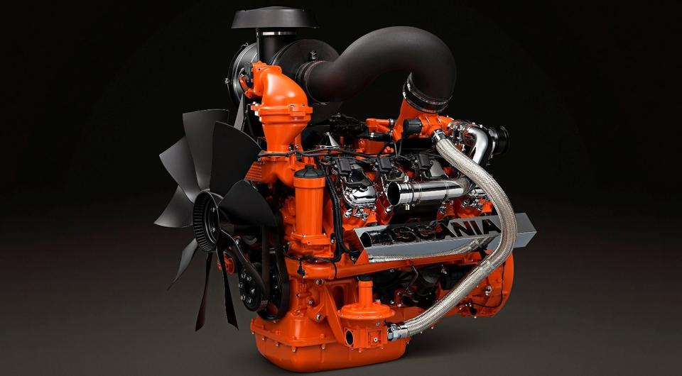 Scania: новый газовый V8