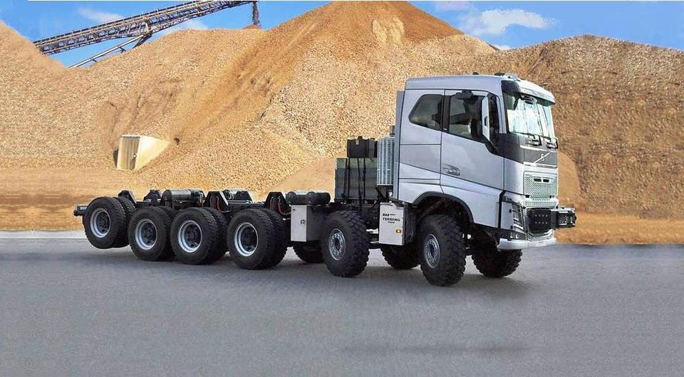 BAS Mining Trucks сделал из Volvo FH многоножку