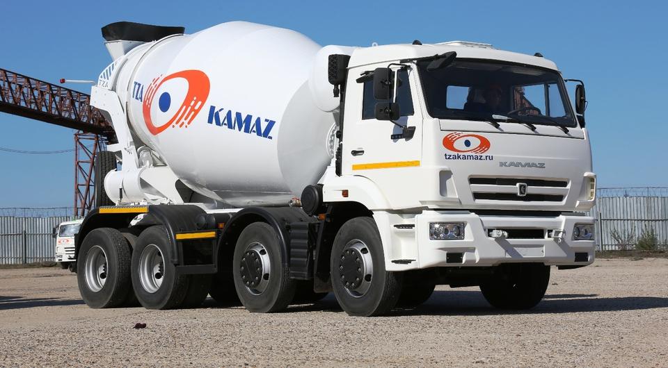 КАМАЗ: автобетоносмесители без перегруза