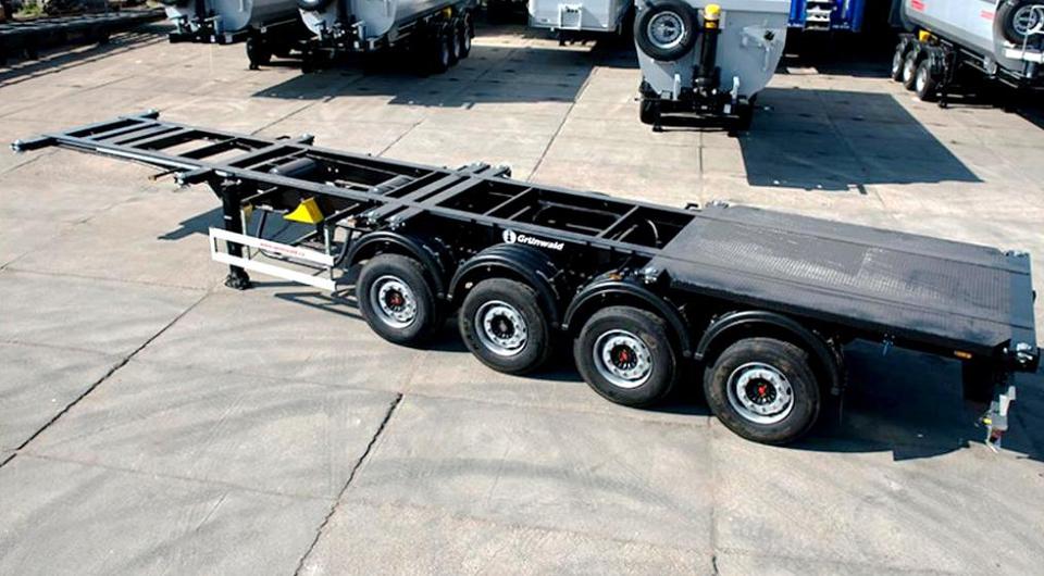 Grunwald: усиленный полуприцеп-контейнеровоз