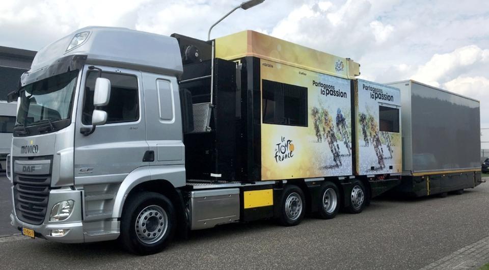 DAF CF150. Хронометраж для «Тур де Франс 2016»