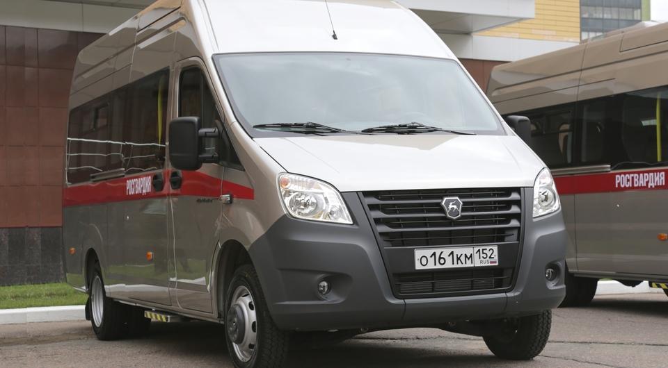 Первые микроавтобусы «Газель NEXT» достались гвардейцам