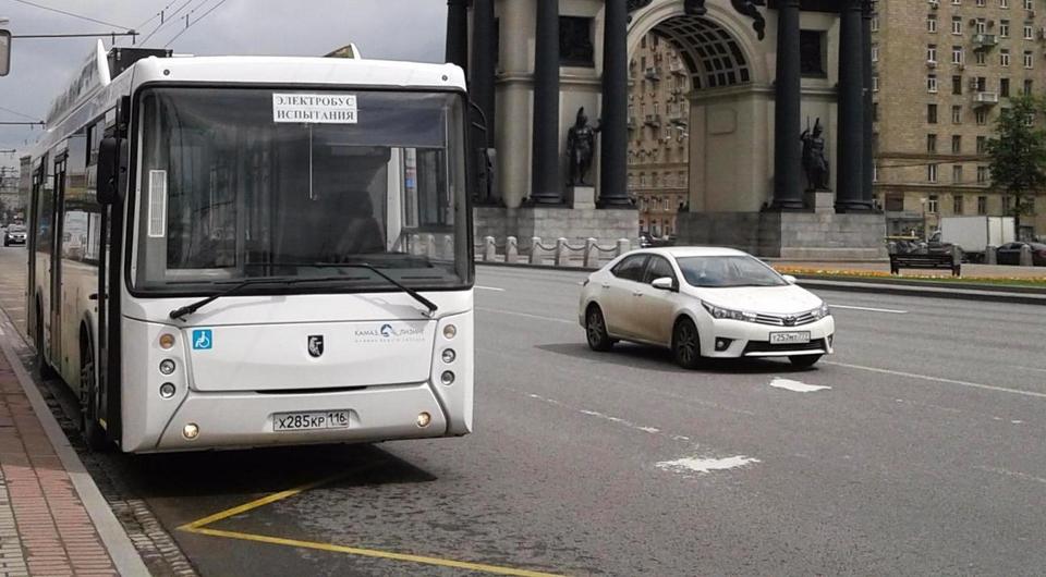 Камский электробус на маршрутах столицы