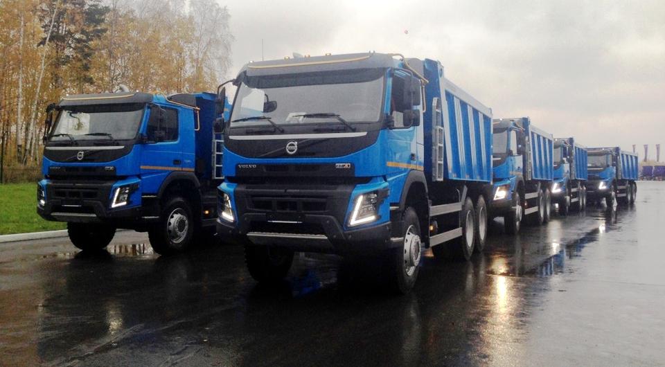 Полноприводные самосвалы Volvo FMX для «Крокус ХМ»