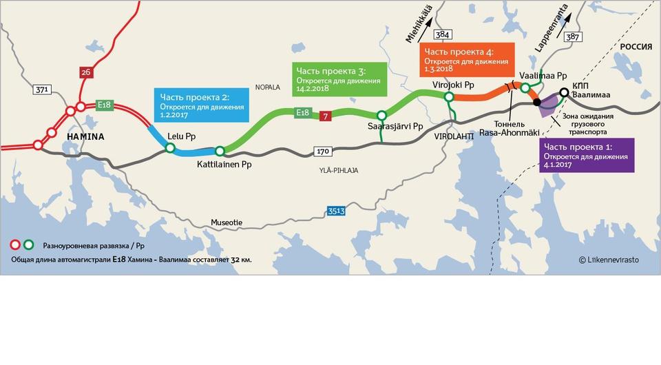 Новая стоянка и подъездные пути на КПП Ваалимаа