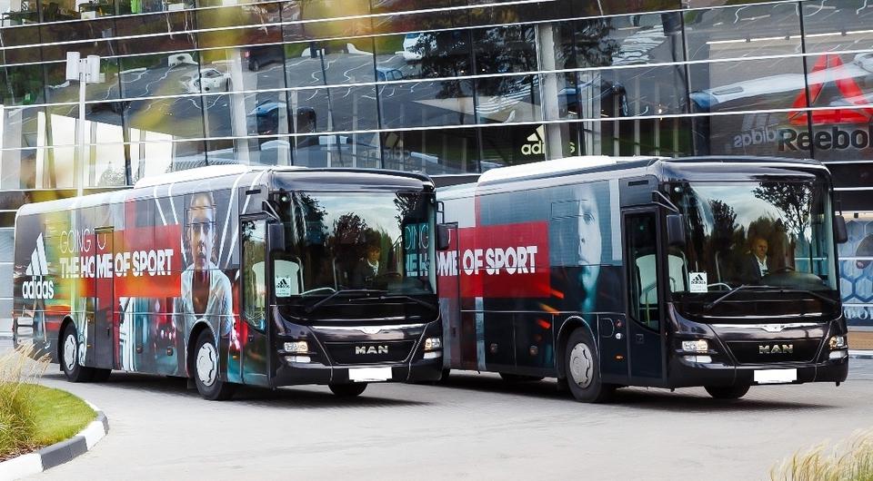 Сотрудники Adidas поехали на автобусах MAN Lion's Intercity