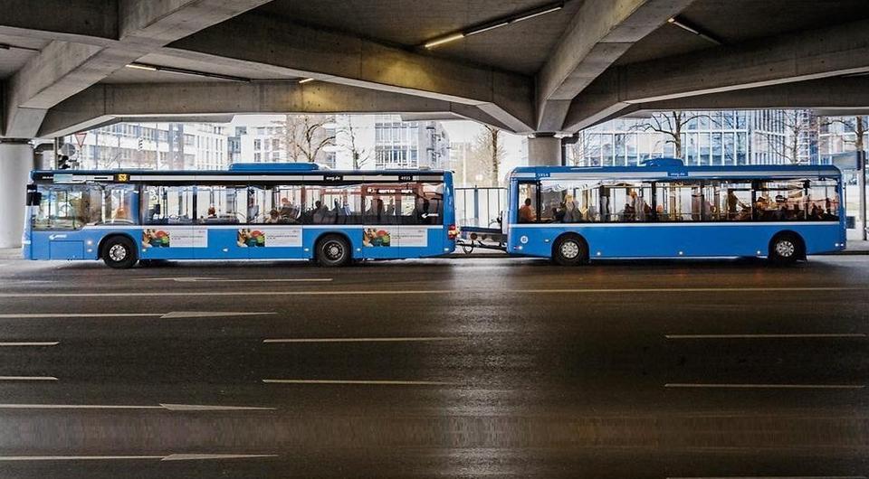 Мюнхен внедряет автобусные поезда