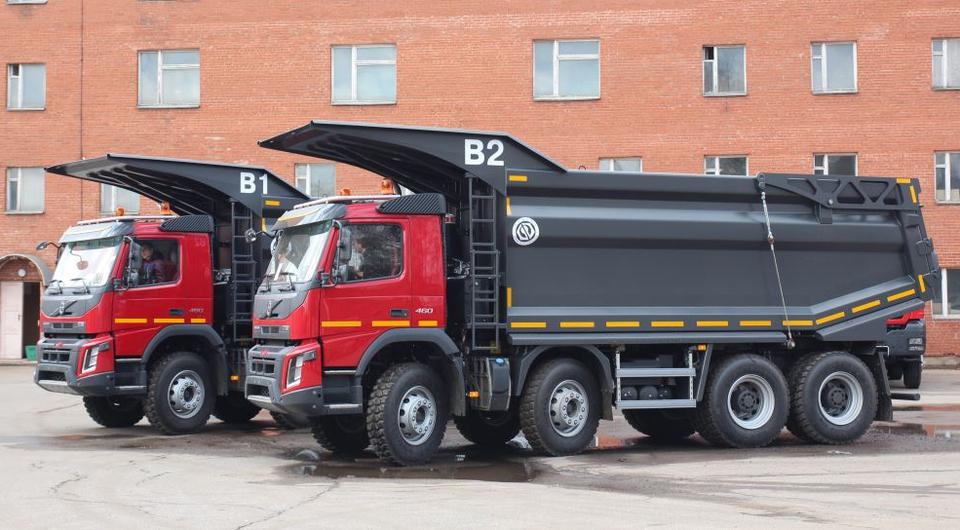 Самосвалы Volvo FMX для угольщиков Бурятии