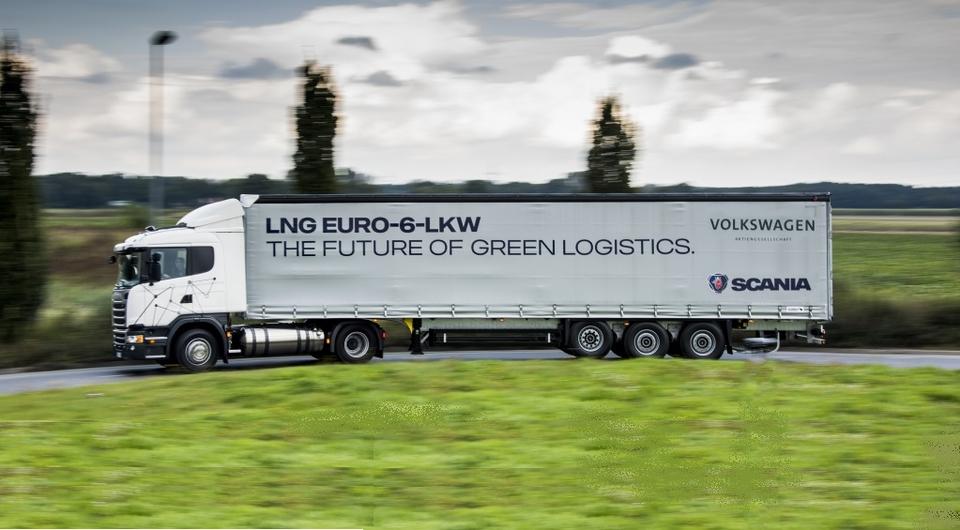 Газовые Scania для перевозчиков Volkswagen
