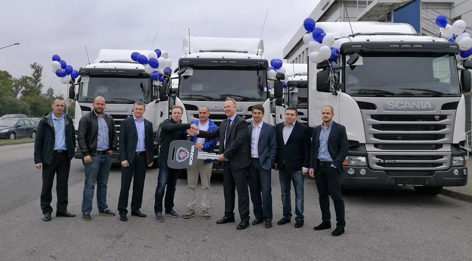 Компания VEZU получила 20 тягачей Scania R400