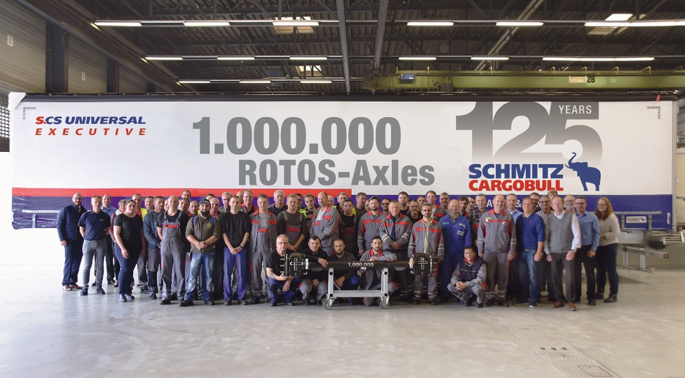 Schmitz Cargobull: произведен миллион осей