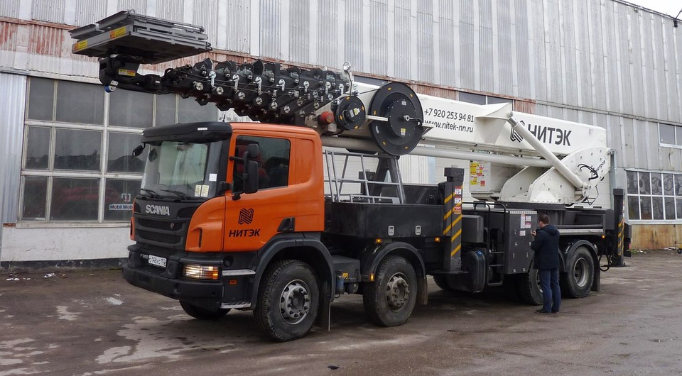 Scania и Horyong Sky: подъем на 75-метровую высоту