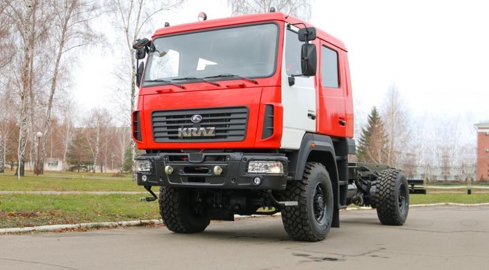 Новая кременчугская «пожарка»: шасси КРАЗ, кабина МАЗ