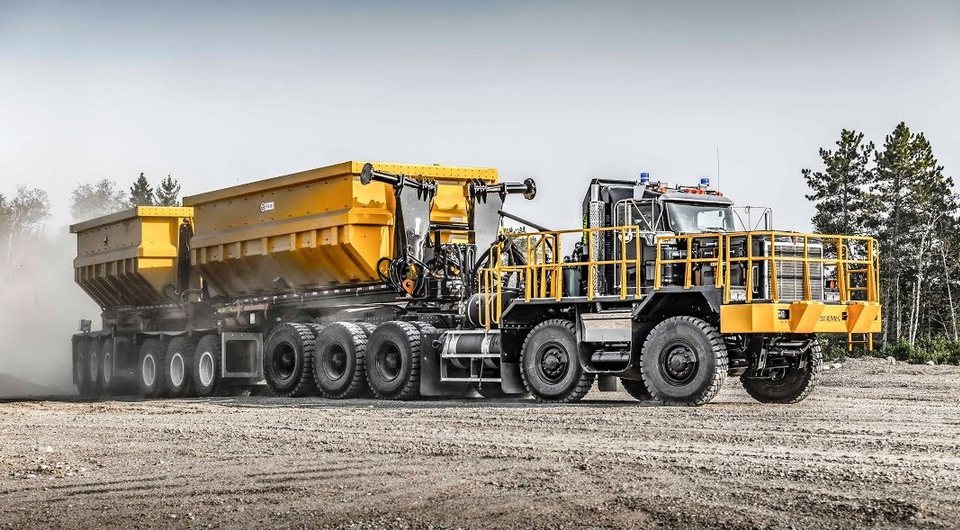 Dramis D150T: три звена, 11 осей и 150 тонн породы