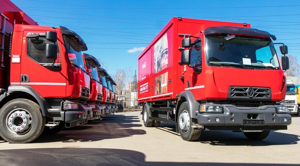 Грузовики Renault Trucks для Coca-Cola HBС Россия