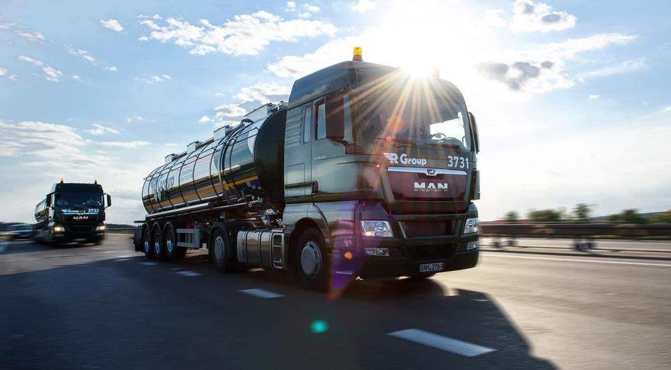 MAN TGX с топливными цистернами для компании R Group