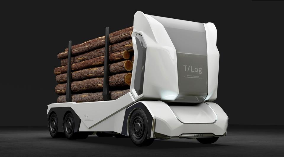 Einride T-log. Автономный грузовик отправляют за лесом