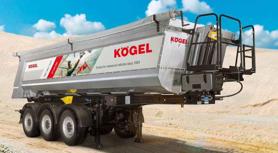 Kögel создал облегченный и износостойкий полуприцеп-самосвал
