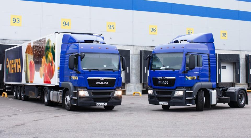 «Лента» приобрела крупную партию грузовиков MAN