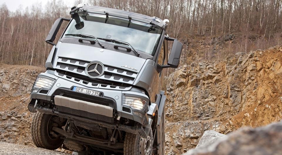 «ТИТАН» тестирует лесовозы Mercedes-Benz Arocs