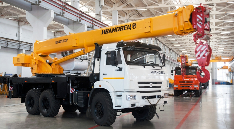 Растет экспорт автокранов «Ивановец»