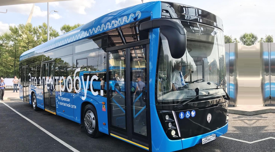 Камский электробус вышел на новый московский маршрут