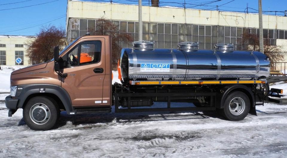 Новый молоковоз на удлиненном шасси «Газон NEXT»