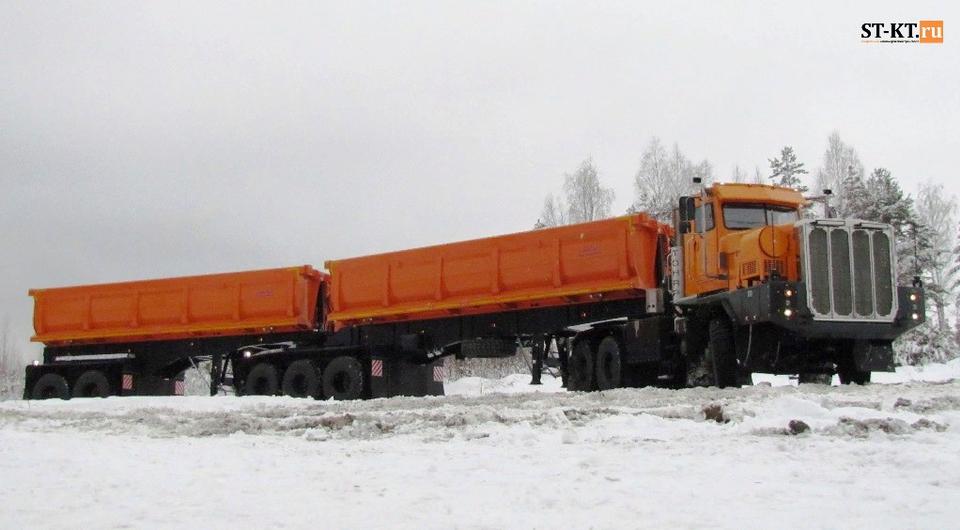 Автопоезд-гигант ТОНАР прибыл к месту работы