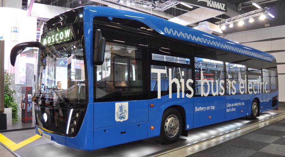 Электробус КАМАЗ впервые показали в Европе
