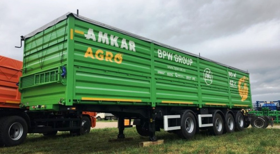 Зерновоз AMKAR-9406-20S получил разнесенные оси