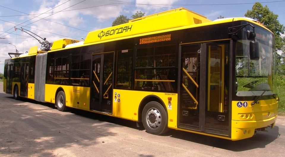 Начаты поставки новых троллейбусов «Богдан» в Киев