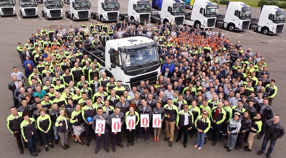 В Калуге изготовлен 30-тысячный грузовик Volvo
