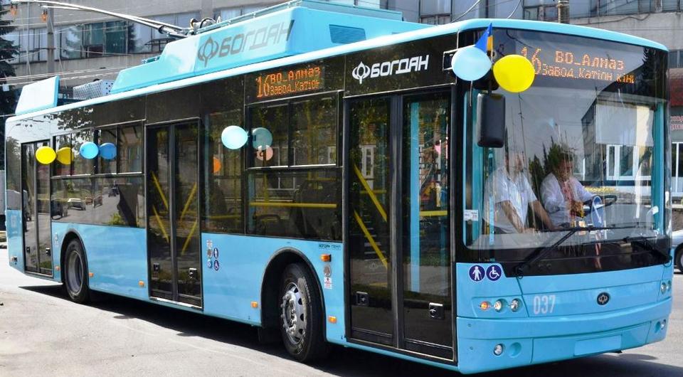 Троллейбусы «Богдан Моторс» поставлены в Хмельницкий