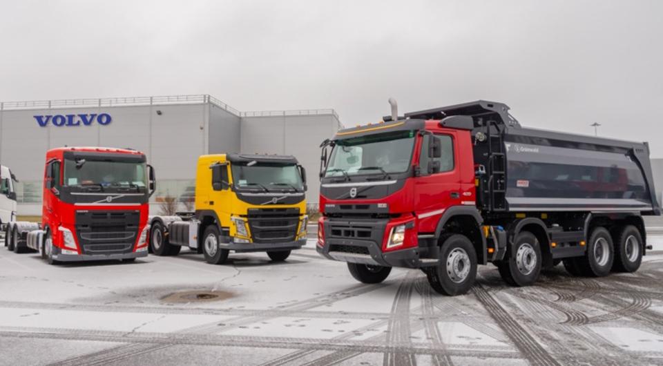 Кузова Grunwald устанавливают на заводе Volvo Trucks