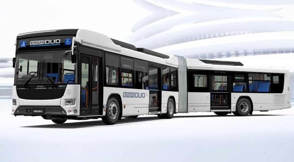 ISUZU и HINO: совместный автобус-гибрид